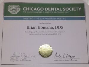 Chicago Dental Society – Brian Homann, DDS